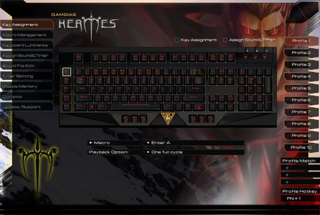 GAMDIAS HERMES Mechanical Gaming Keyboard 108