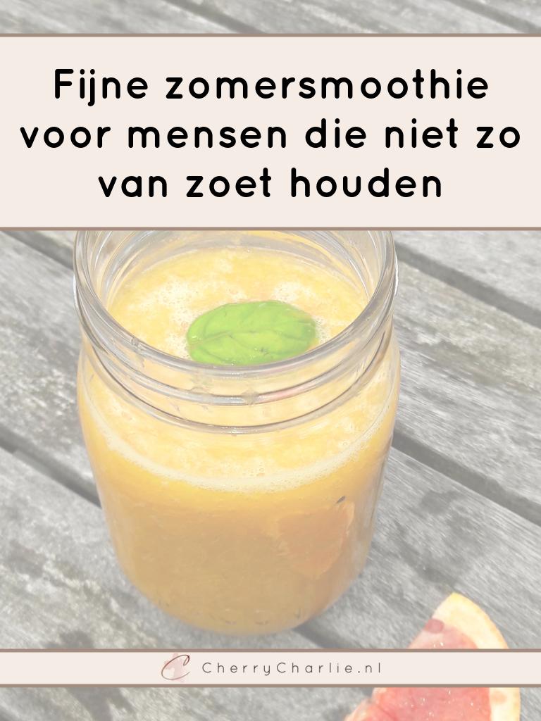 Fijne zomersmoothie voor mensen die niet zo van zoet houden • CherryCharlie.nl