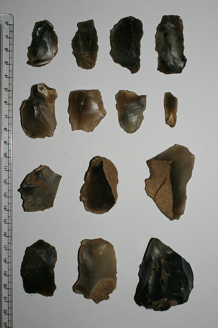 Flints from oval barrow