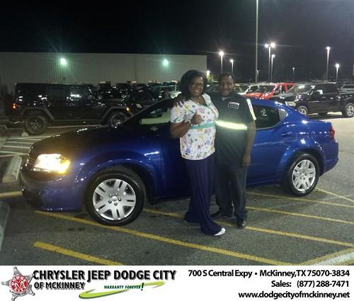 Happy Anniversary to Latashia Smith on your 2013 #Dodge #Avenger from  Brent Villarreal  and everyone at Dodge City of McKinney! #Anniversary by Dodge City McKinney Texas