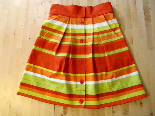 Kelly skirt, made with Mood Fabrics