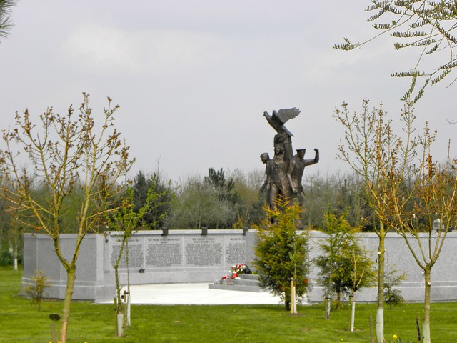 The Polish War memorial at the National Memorial Arboretum