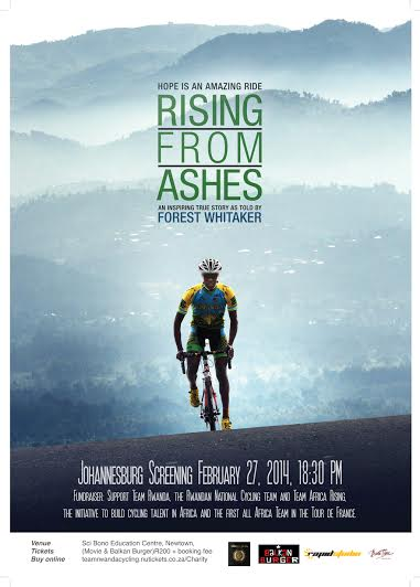 Screening of award-winning cycling documentary raises funds for first all-African Tour De France team