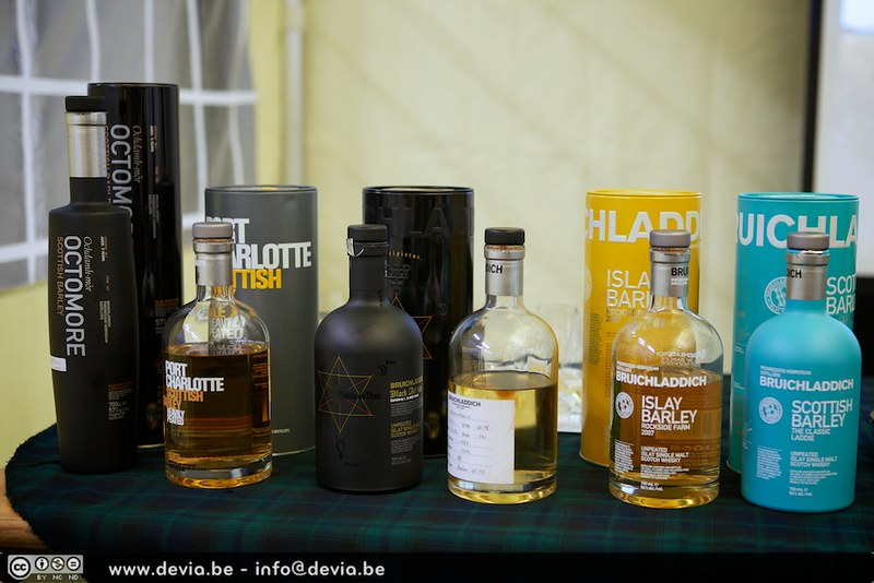 Bruichladdich Master Class lineup (Whisky Festival Gent)