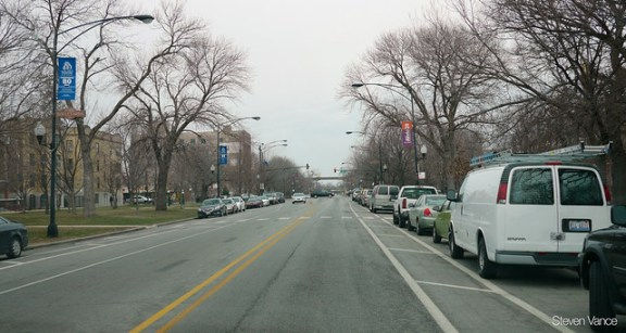 Marshall Boulevard parking+bike lanes