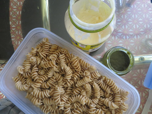 Tuna and pesto pasta salad