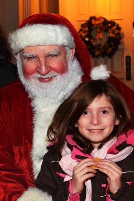 Caitlin and Santa