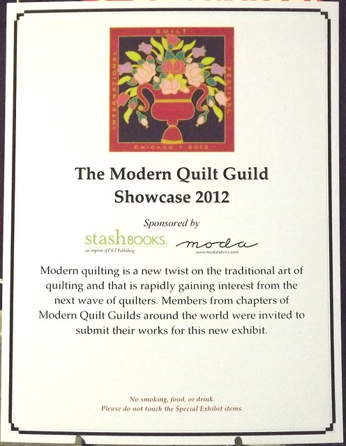 IQF Chicago 2013 - The Modern Quilt Guild Showcase 2012