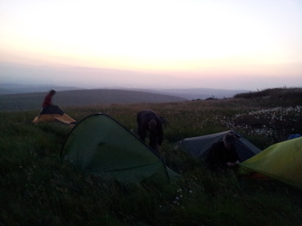 Friday night's camp on Shining Tor