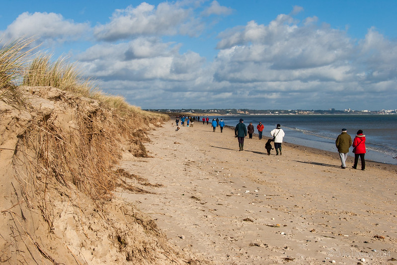 Studland Beach was very busy