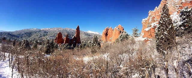 Picture after a recent snowfall at the Garden of the Gods in Colorado Springs.