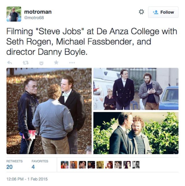Screen Shot twitter Shooting new Jobs Film Boyle 2015