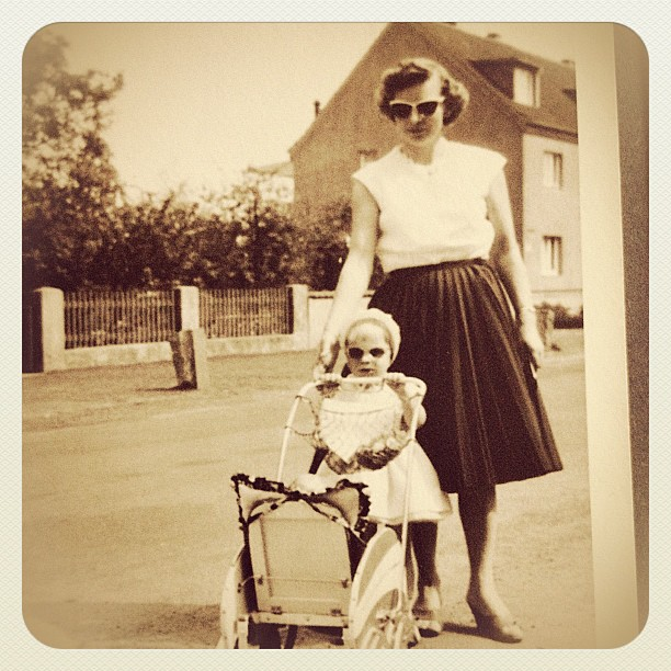 May 12 - mother {with my mom in the late 1950's} HAPPY MOTHERS DAY!  #fmsphotoaday #mom #mother #blackandwhite