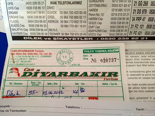 Bus Ticket for Iraq