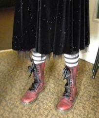 Proper fan boots. And socks.