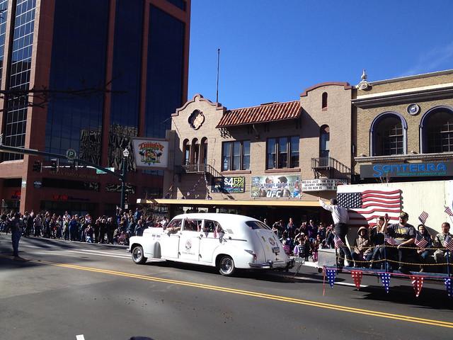 Restored Cadillac Drives In Veteran's Day Parade