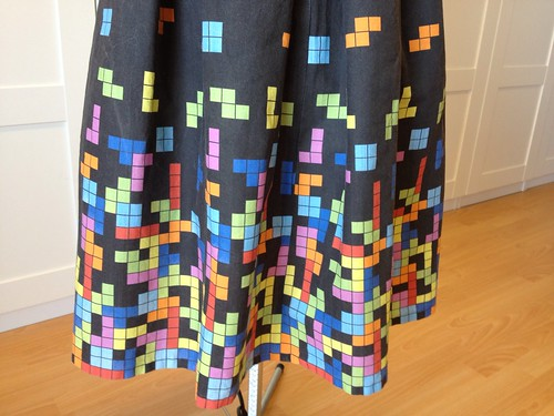 Tetris dress hem