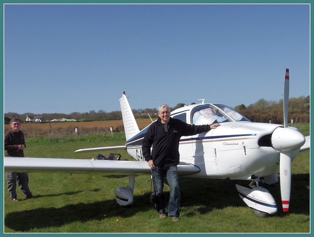 Piper Cherokee and me at Sandown Airstrip