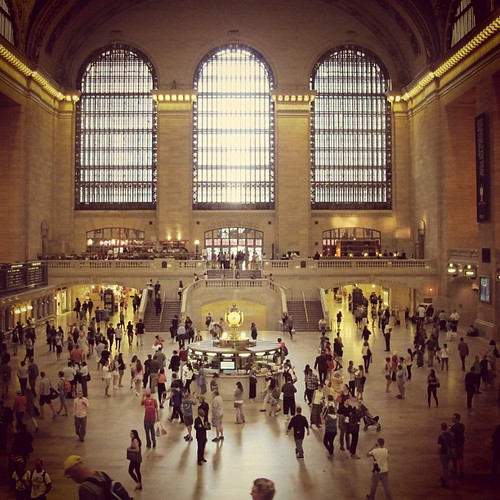 Grand Central. I always want to dance in there.