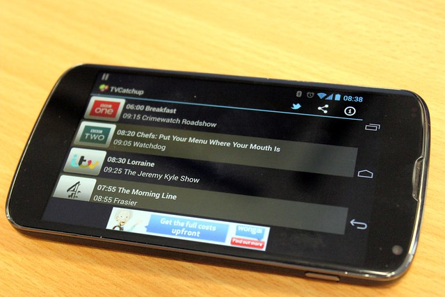 TV Catchup on a Nexus 4