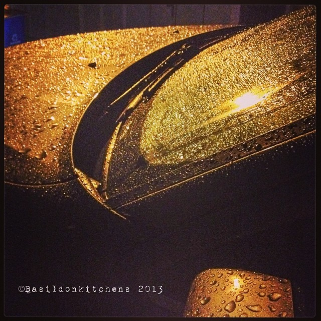 Oct 30 - wet {my car this morning after a night of rain} #fmsphotoaday #wet #rain #car #morning
