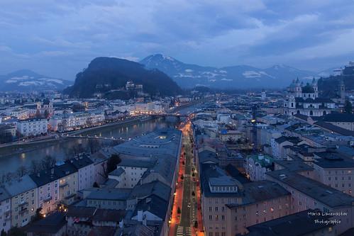 Salzburg zur blauen Stunde