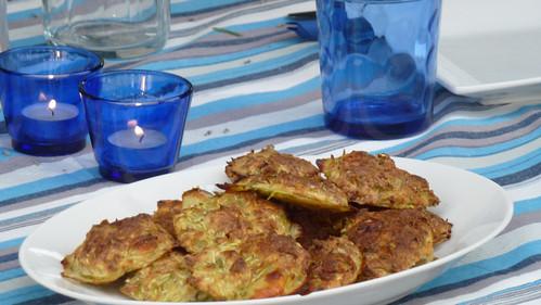Zucchini & mint fritters - Frittelle di zucchine e menta