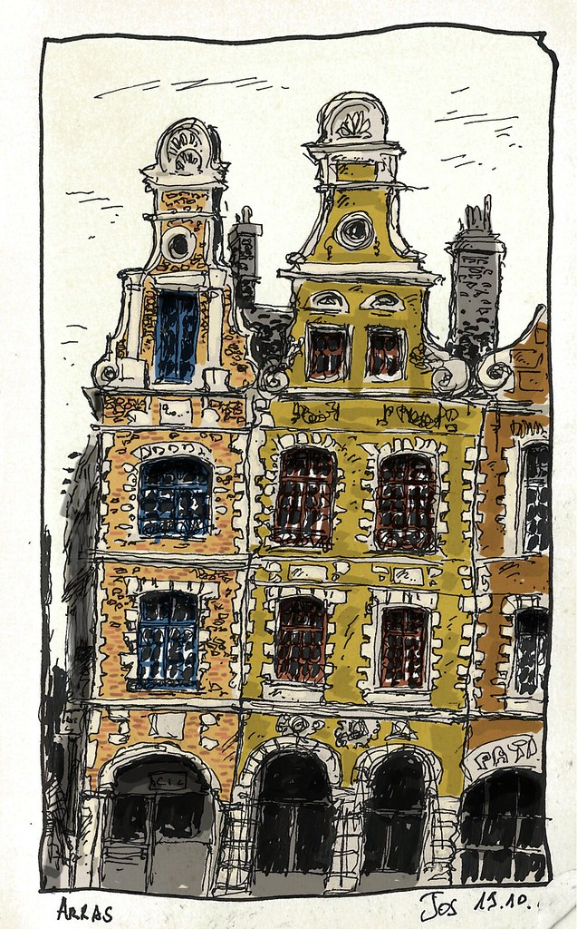 Houses in Arras, France