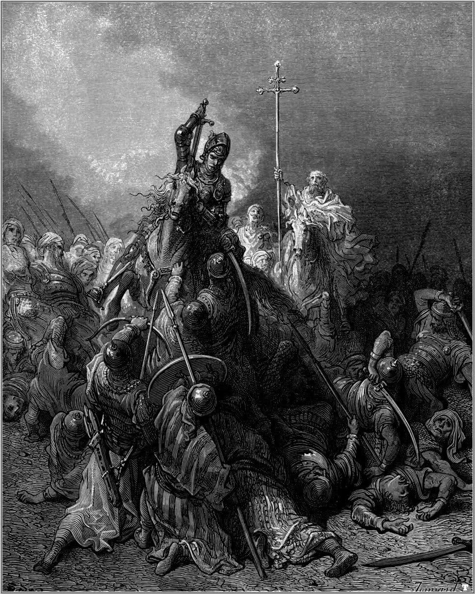 3. La lucha contra el infiel. De la obra Las Cruzadas. Gustavo Doré (1832-1883)