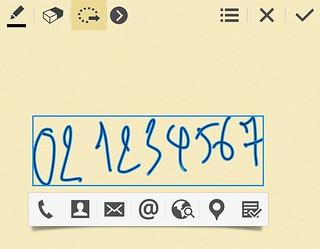 Action Memo บน Samsung Galaxy Note 3 ... เขียนเบอร์โทร หรือ อีเมล์แอดเดรส แล้วก็ให้ระบบจดจำลายมือ แล้วโทรออก หรือส่งอีเมล์ได้