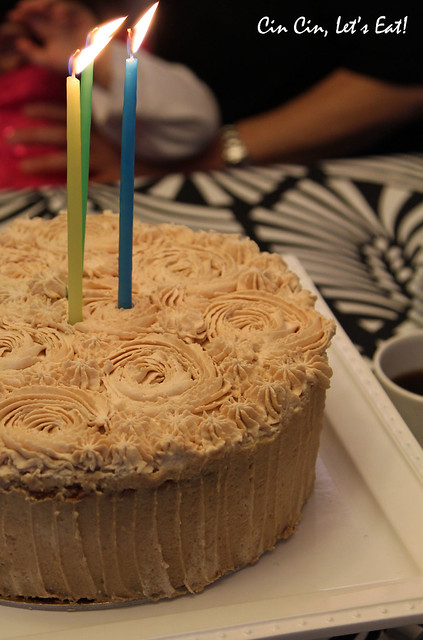 matcha chestnut cake_candles