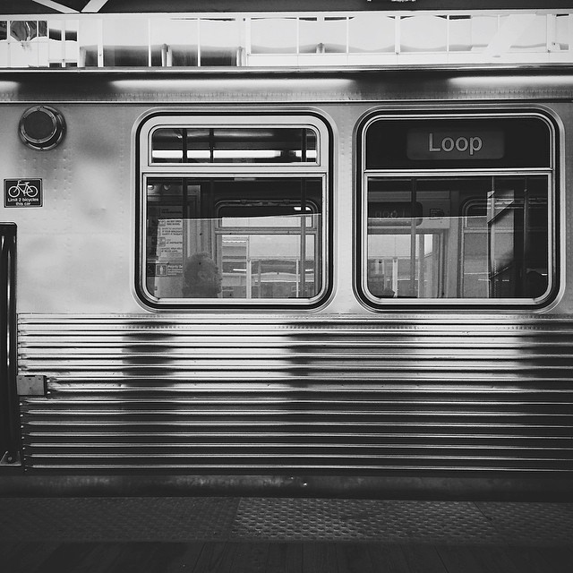 On my way to Chicago's #flickr10 photo walk. {#vscocam #vscochicago #vsco #igerschicago #thel #cta}