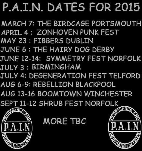 P.A.I.N Tour Dates 2015