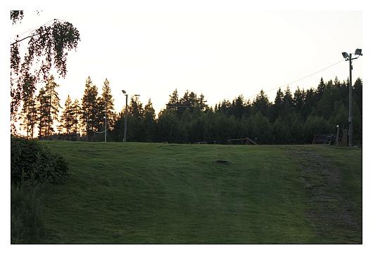Golfkenttämainen näkymä maastoliikuntakeskuksessa