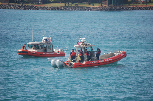 Coast Guard boats