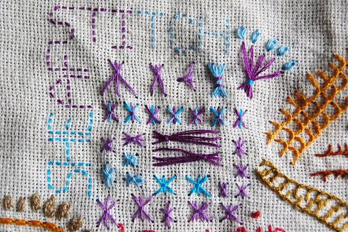 TAST 2012 #35: Sheaf Stitch (Schoofsteek)