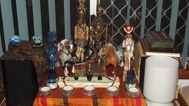 Sobek and Heru shrine overview