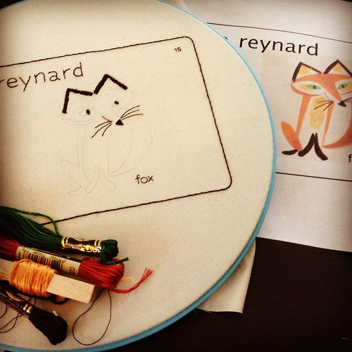 WIP my entry in the &stitches back to school contestA French flashcard