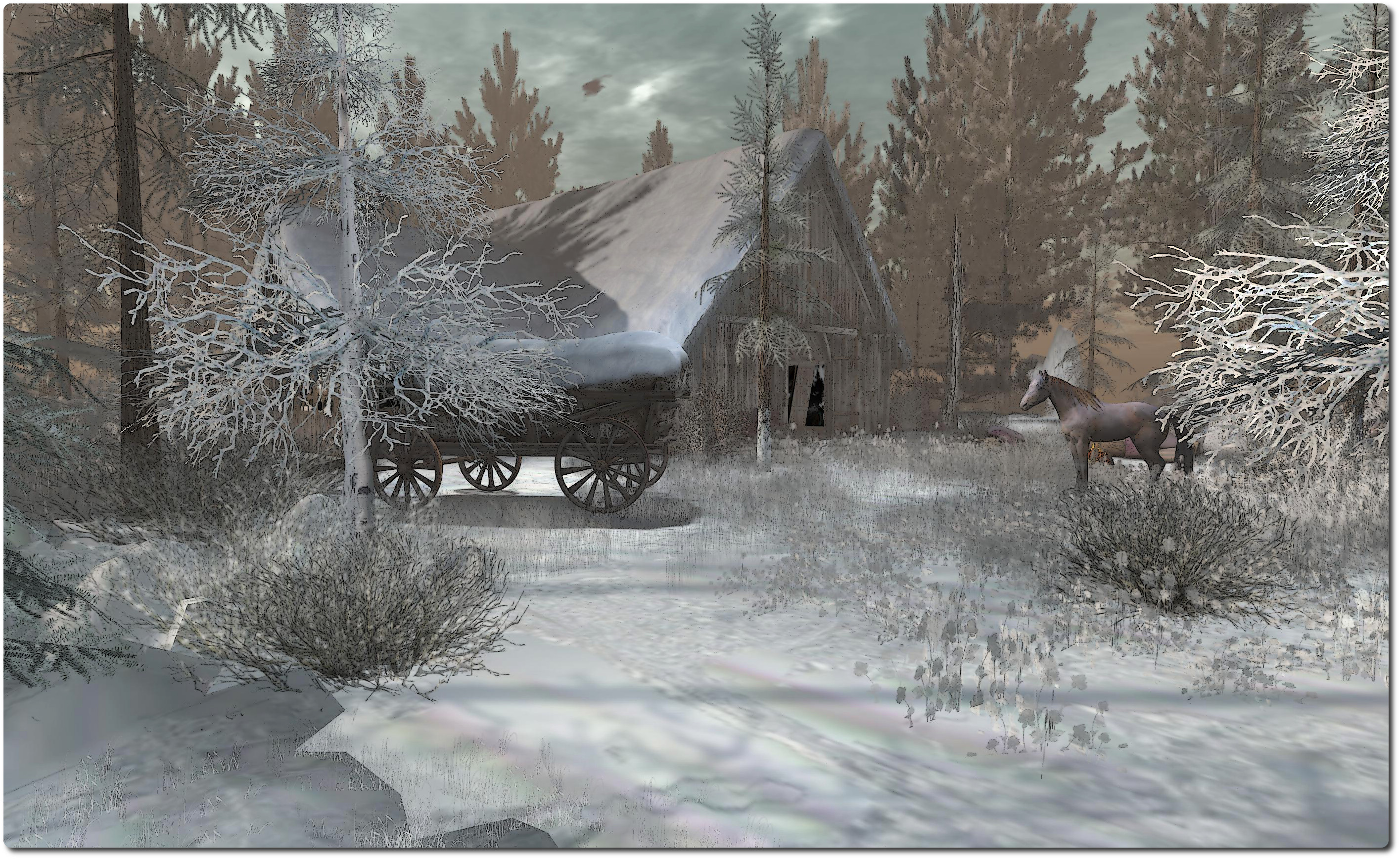 A winter scene from Slightly Twisted, December 2013