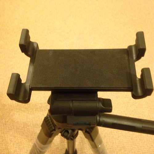 Image of the iStabalizer tab mount on the tripod