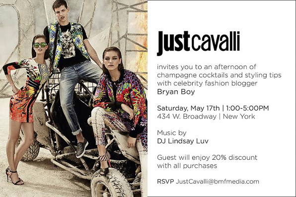 Bryanboy at Just Cavalli Soho