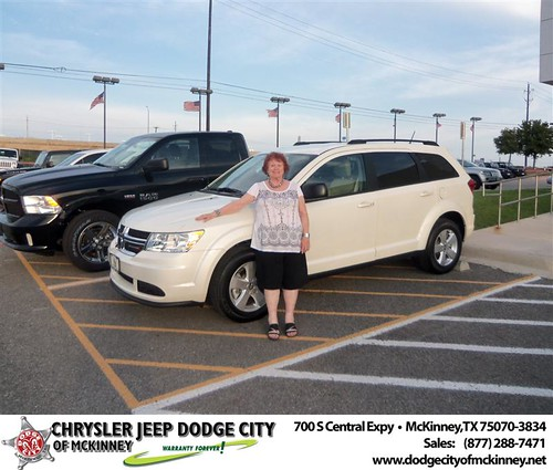Dodge City of McKinney would like to say Congratulations to Merrye Dalluge on the 2013 Dodge Journey from Bobby Crosby by Dodge City McKinney Texas