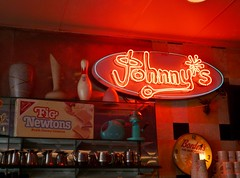 Johnny's Luncheonette sign