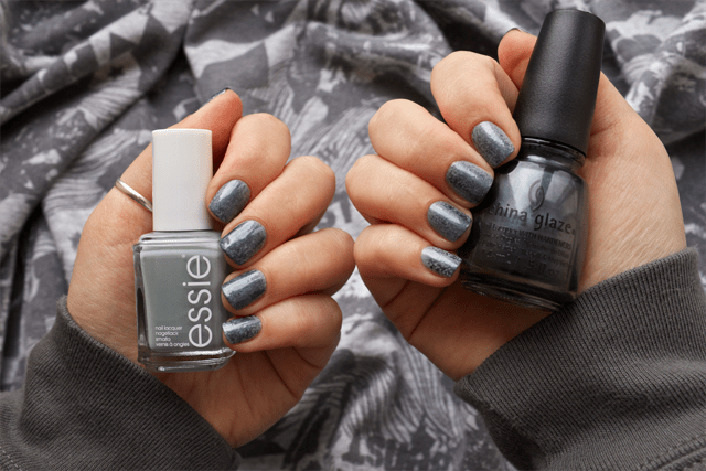 04 punk rock nails essie maximillian stresse her + china glaze kiss my glass