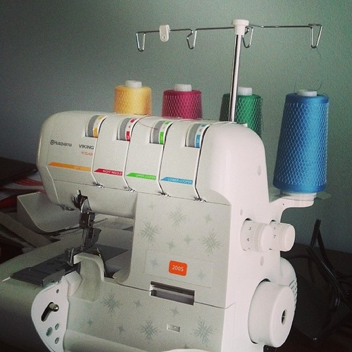 Threading new serger not as bad as I imagined.