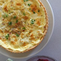 Julia Child's Quiche Lorraine and an Icy Red Onion & Beet Salad