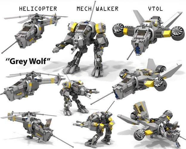"""Grey Wolf"" VTOL/Mech Walker/Helicopter"