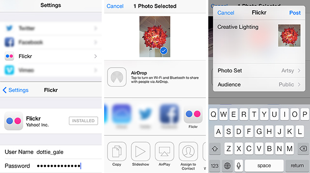 Flickr in iOS 7