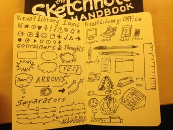 Sketchnotes: learning and first experiments