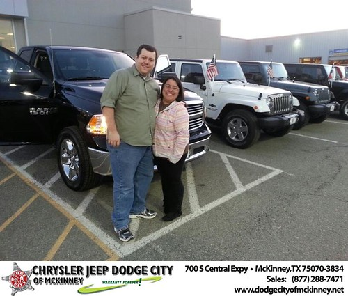 Thank you to Justin  Jacksn on your new 2014 #Ram #1500 from Henry Adologie and everyone at Dodge City of McKinney! #NewCarSmell by Dodge City McKinney Texas